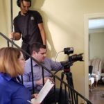 Co-Director Mary C. Ferrara with DP Chris Esper and Sound person Edward Morris